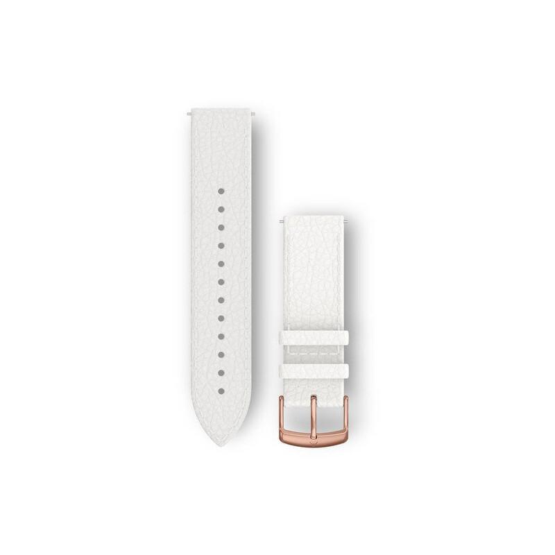 Garmin Uhrenarmband Vivomove 20mm Leder weiß