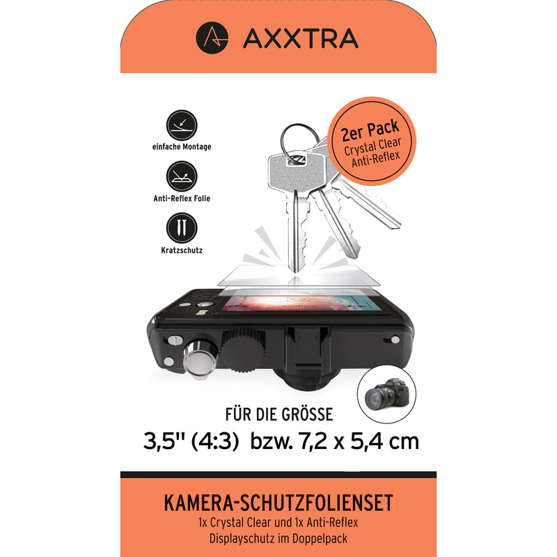 """Axxtra 3,5"""" 7,2 x 5,4cm Displayschutzfolie"""