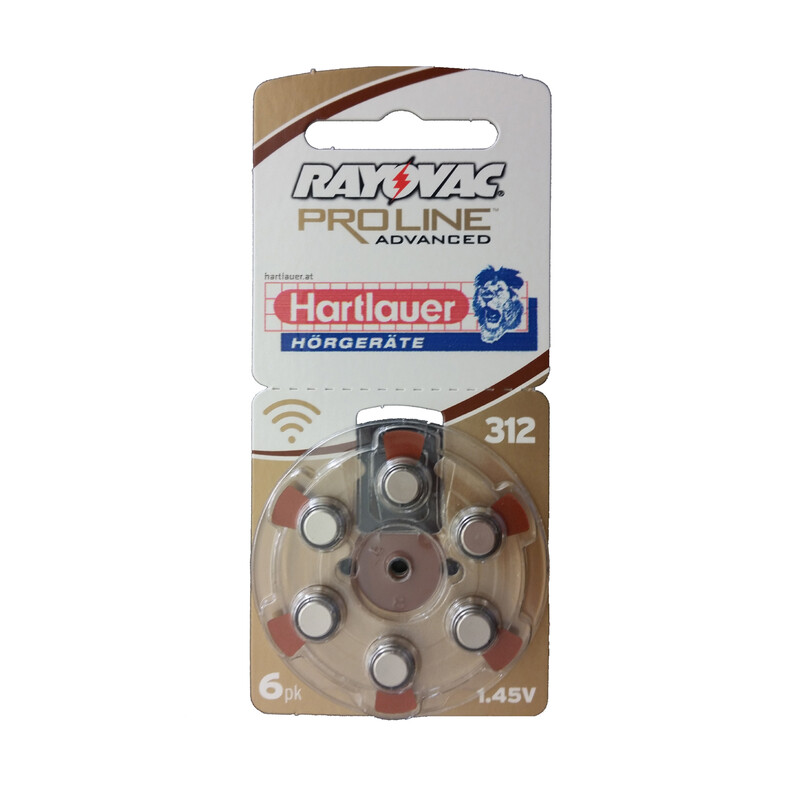 Rayovac 312 UltraProline Mercury Free 6er Hörgerätebatterien
