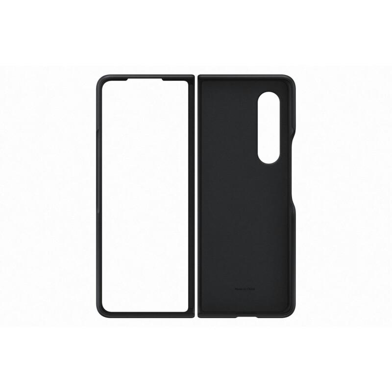 Samsung Original Back Cover Leder Galaxy Z Fold3 schwarz