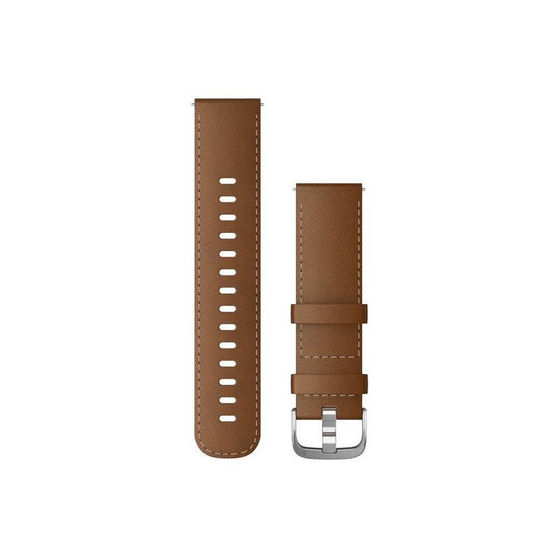 Garmin Band 22mm Leder braun silber