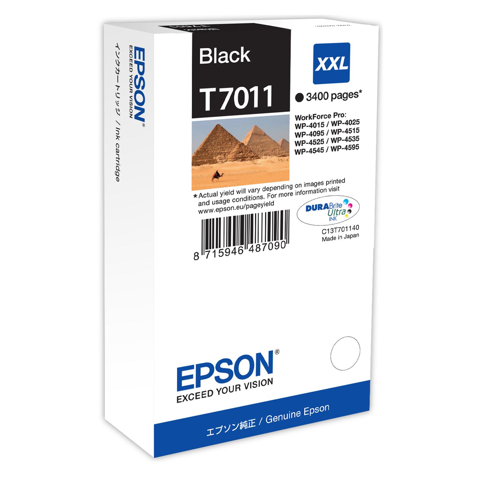 Epson T7011XXL Tinte Black 63,2ml