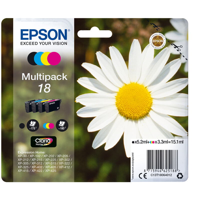 Epson 18 T1806 Tinte Multipack