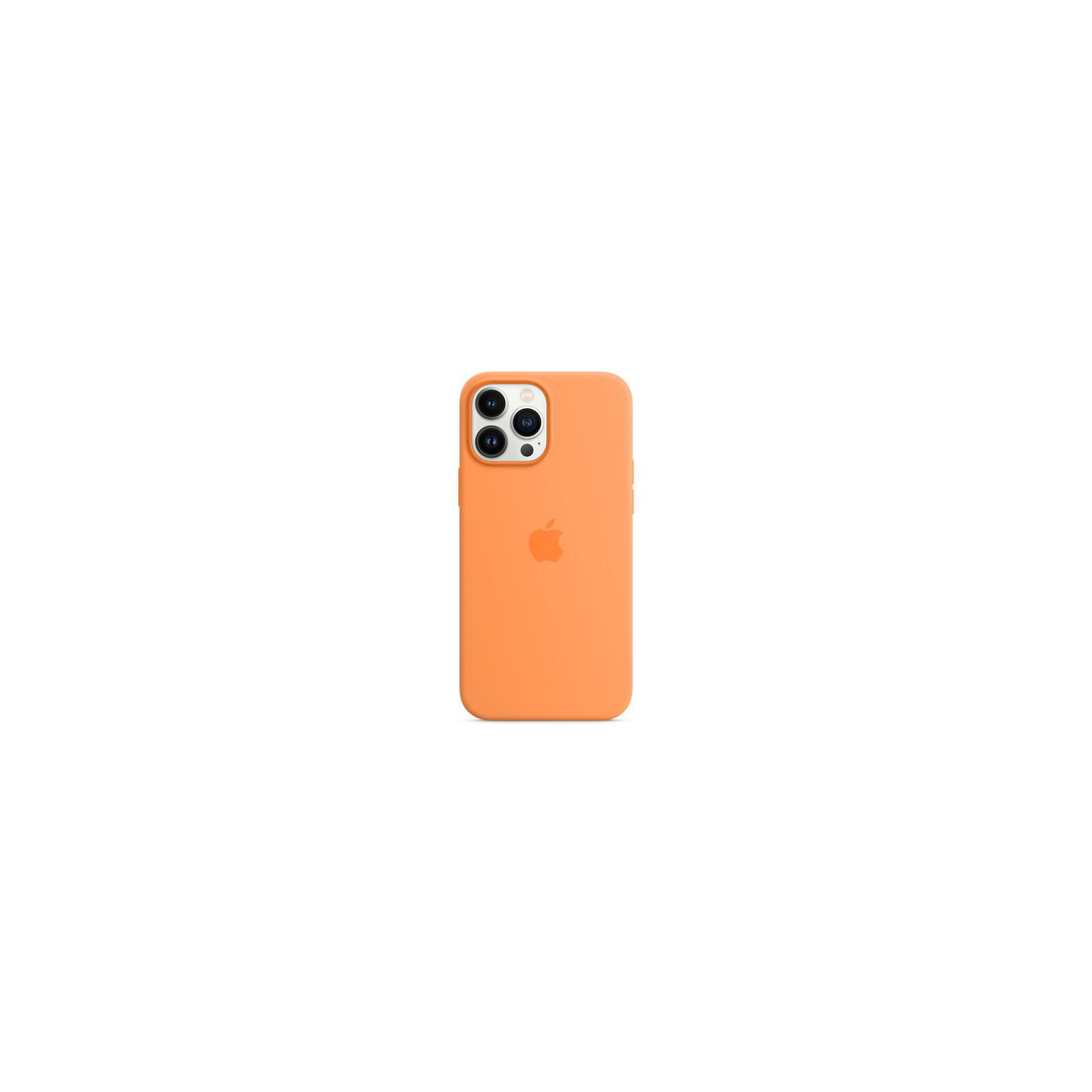 Apple iPhone 13 Pro Max Silikon Case mit MagSage gelborange