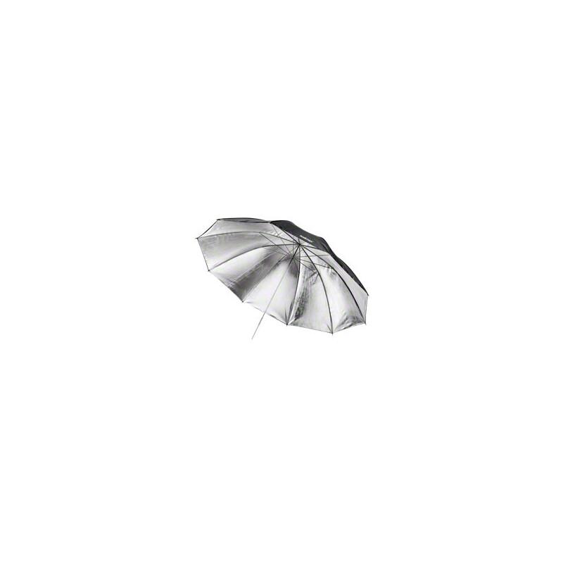 walimex Reflexschirm schwarz/silber 2-lagig, 150cm