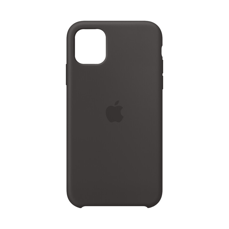 Apple Backcover Silikon iPhone 11 schwarz