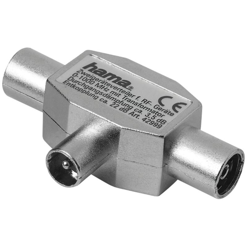 Hama 122470 Antennen-Verteiler Koax-Stecker 2 Koax-Kupplung
