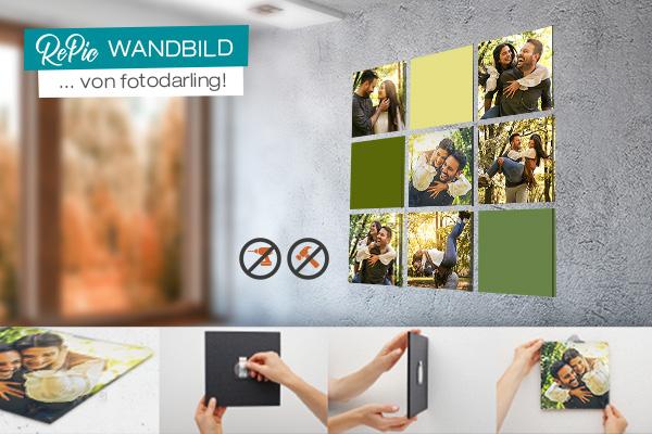 RePic Wandbild Fotoelemente von fotodarling mit Bildanleitung zur Montage