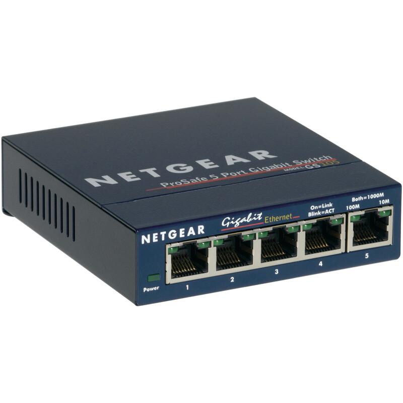 Netgear 5-Port Gigabit Switch GS105