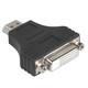 Hama 34617 DVI-HDMI-Adapter, HDMI-Stecker, DVI-Kupplung gesc