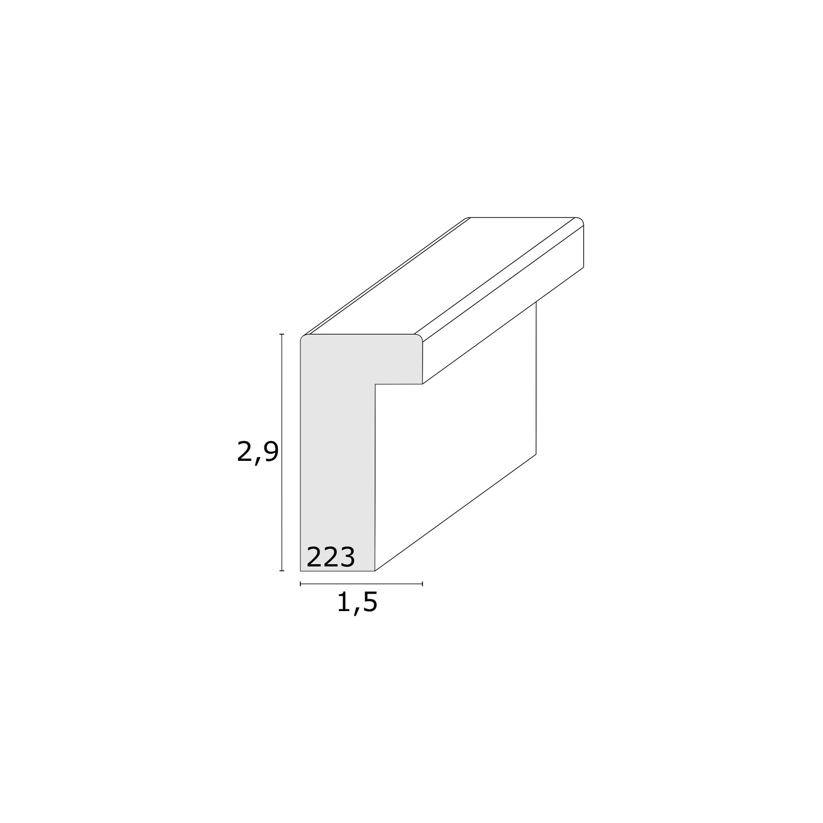 Deknudt S223K7P1 18x24 Holz taupe