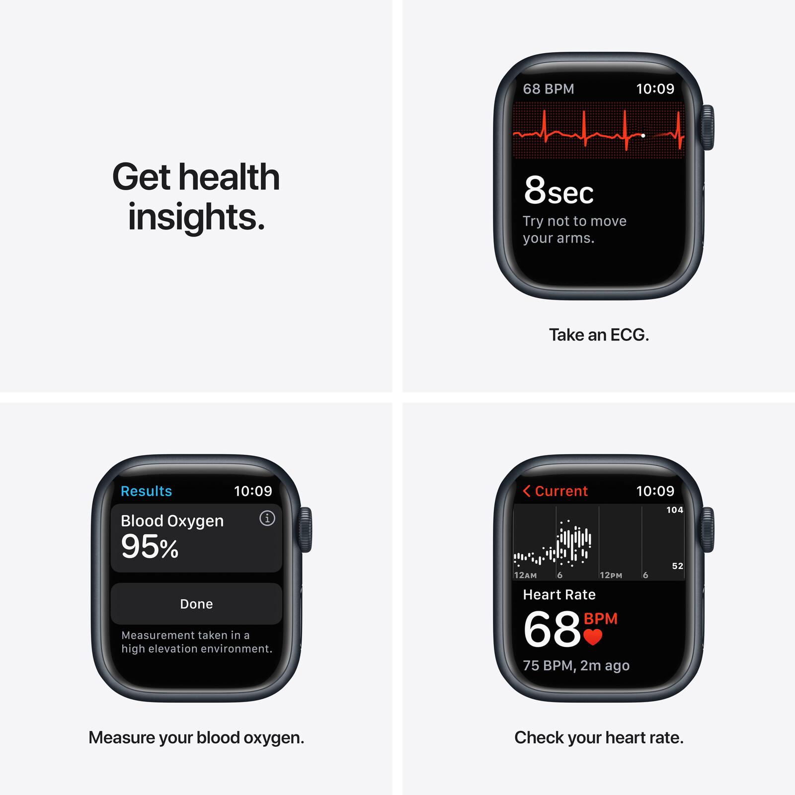 Apple Watch Series 7 Cellular Alu mitternacht 41mm schwarz