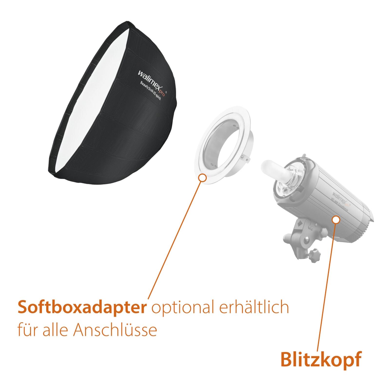 Walimex pro Studio Line Beauty Dish Softbox QA65 Walimex pro