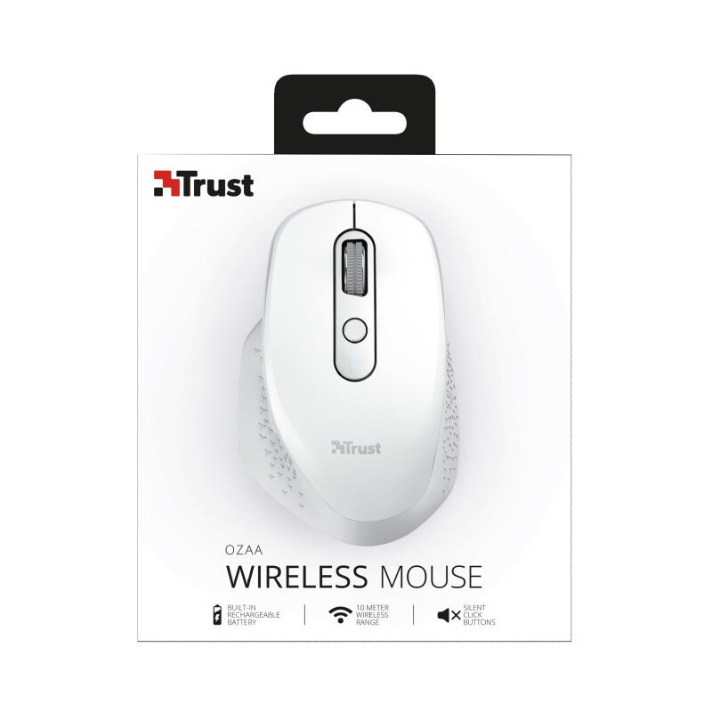 Trust OZAA RECHARGEABLE Mouse white