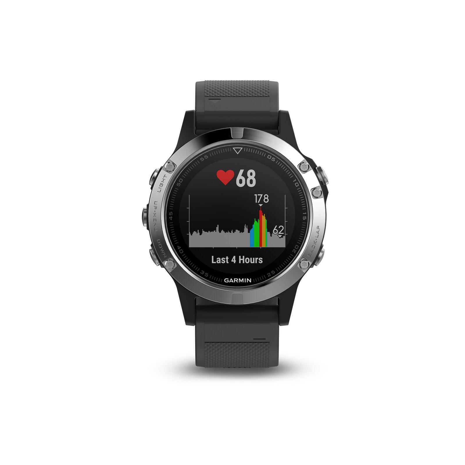 Garmin Fenix 5 Schwarz/Silber Smartwatch
