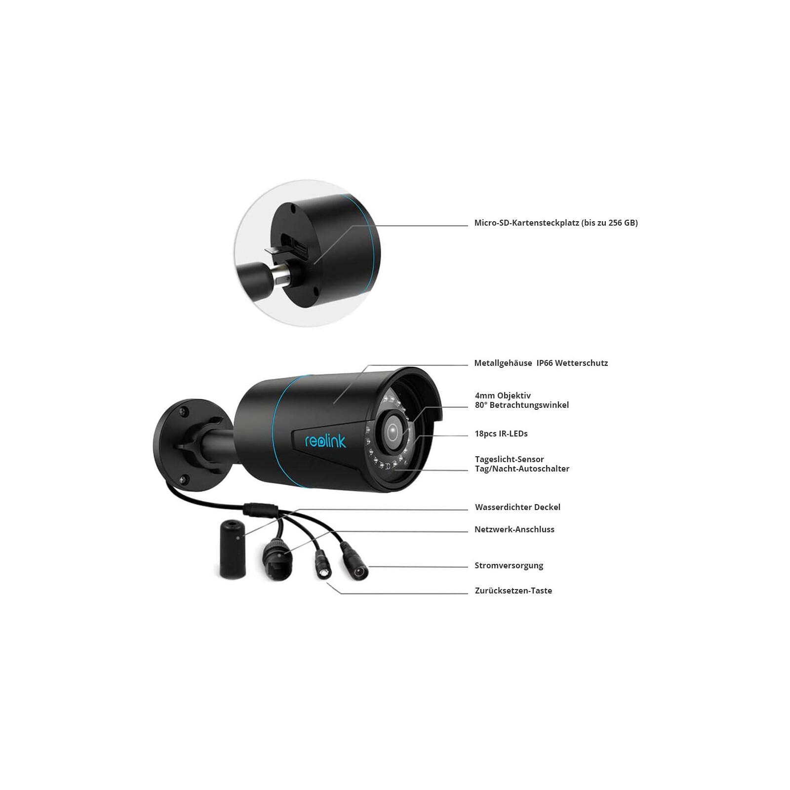 Reolink Überwachungskamera RLC-510A schwarz