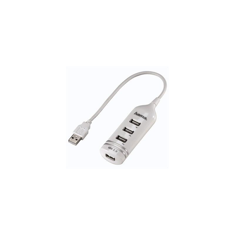 Hama 39788 USB 2.0 Hub 1:4 weiss ohne Netzteil