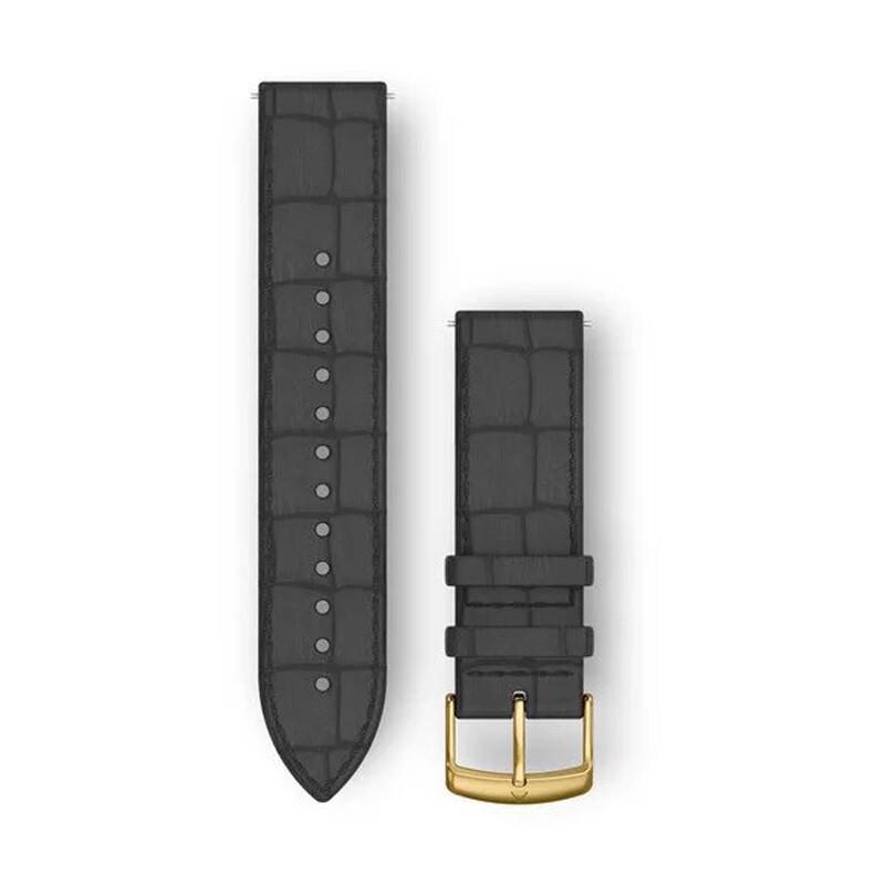 Garmin Uhrenarmband Vivomove 20mm Leder Schwarz Kroko