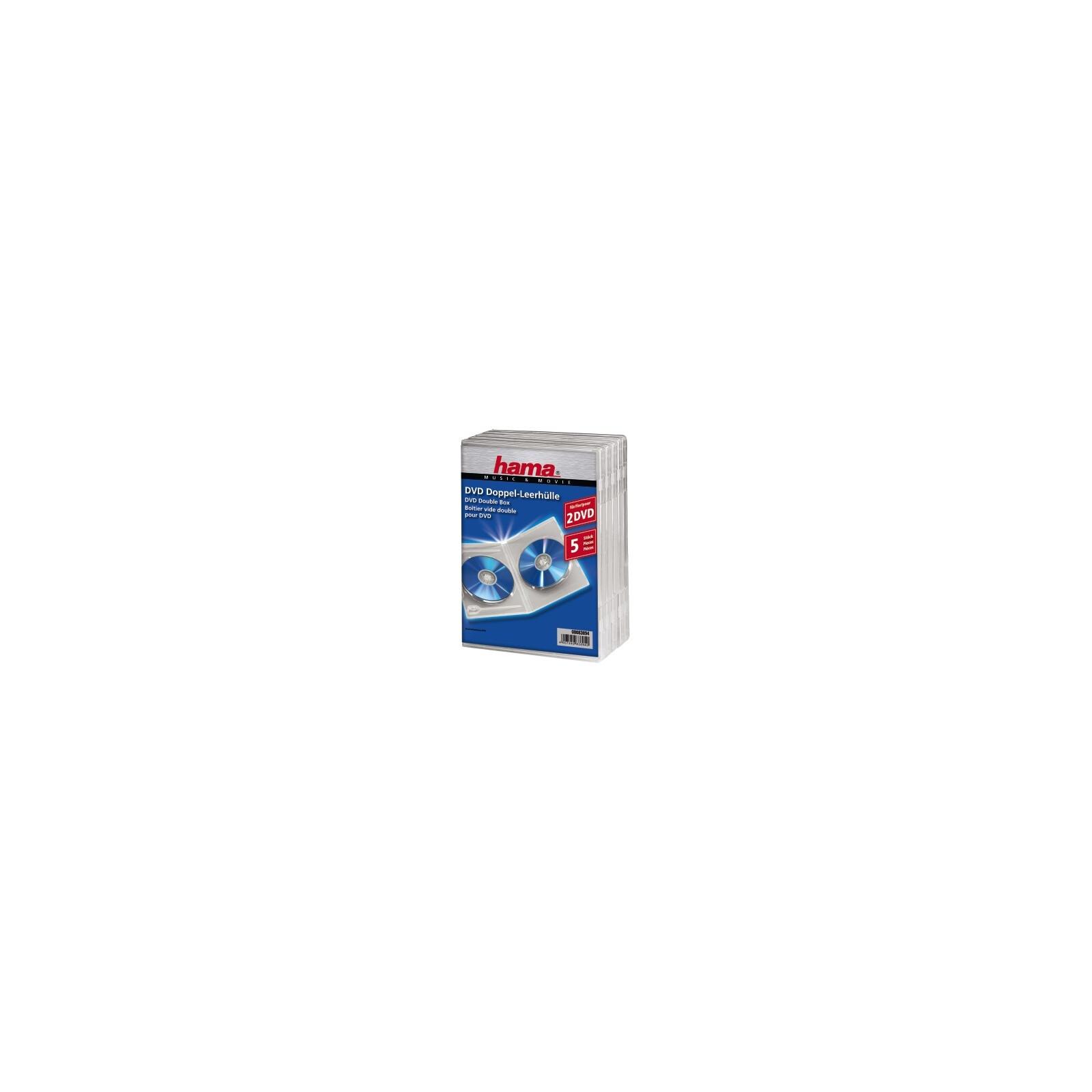 Hama 83894 DVD-Doppelleerhülle Standard 5er-Pack Transparent