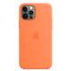 Apple iPhone 12/12 Pro Silikon Case mit MagSafe kumquat