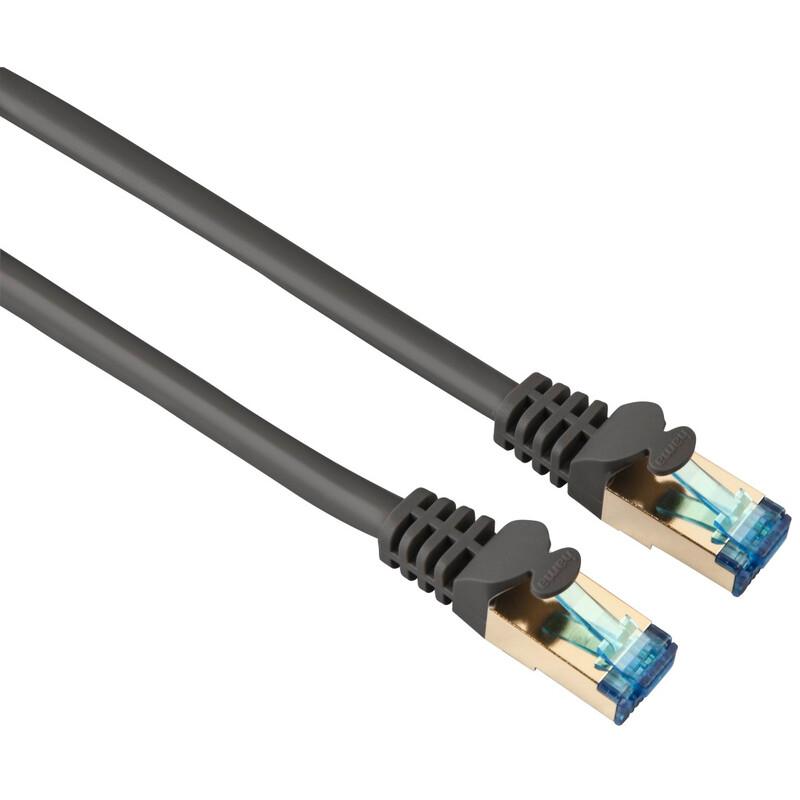 Hama 45057 CAT-6-Netzwerkkabel PIMF, vergoldet, doppelt geschirmt