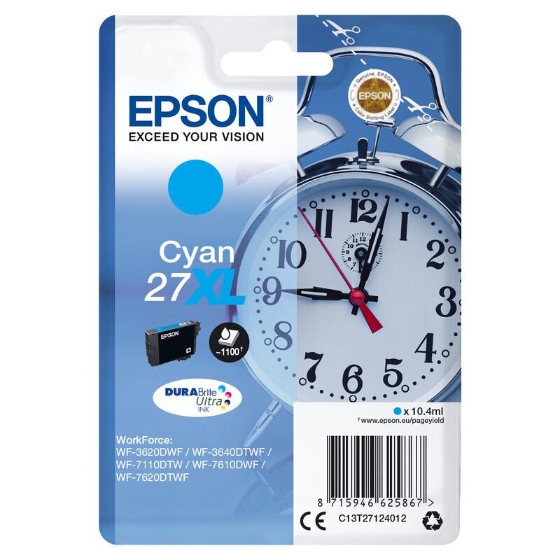 Epson 27XL T2712 Tinte Cyan 10,4ml