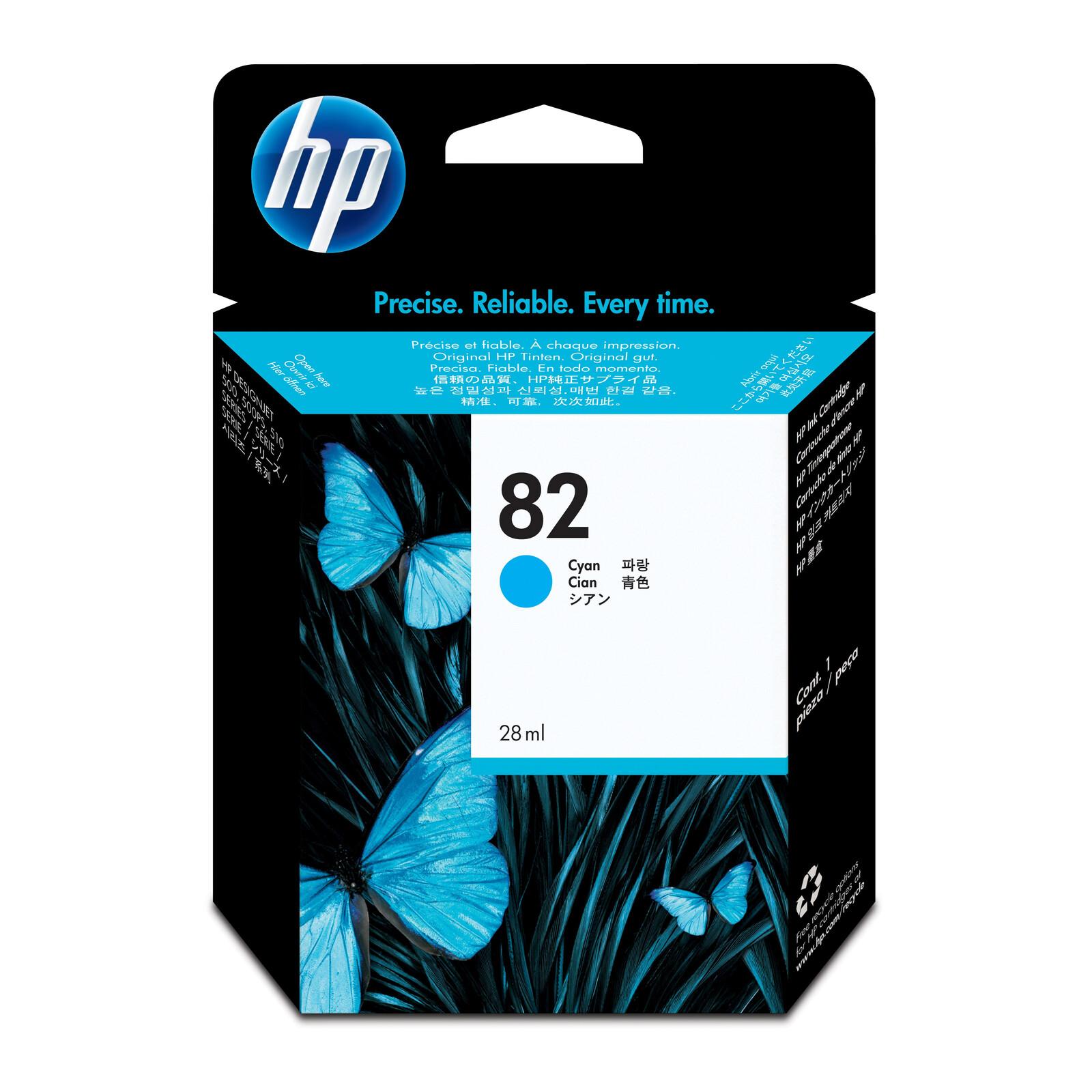 HP 82 C4911A Tinte cyan 69ml