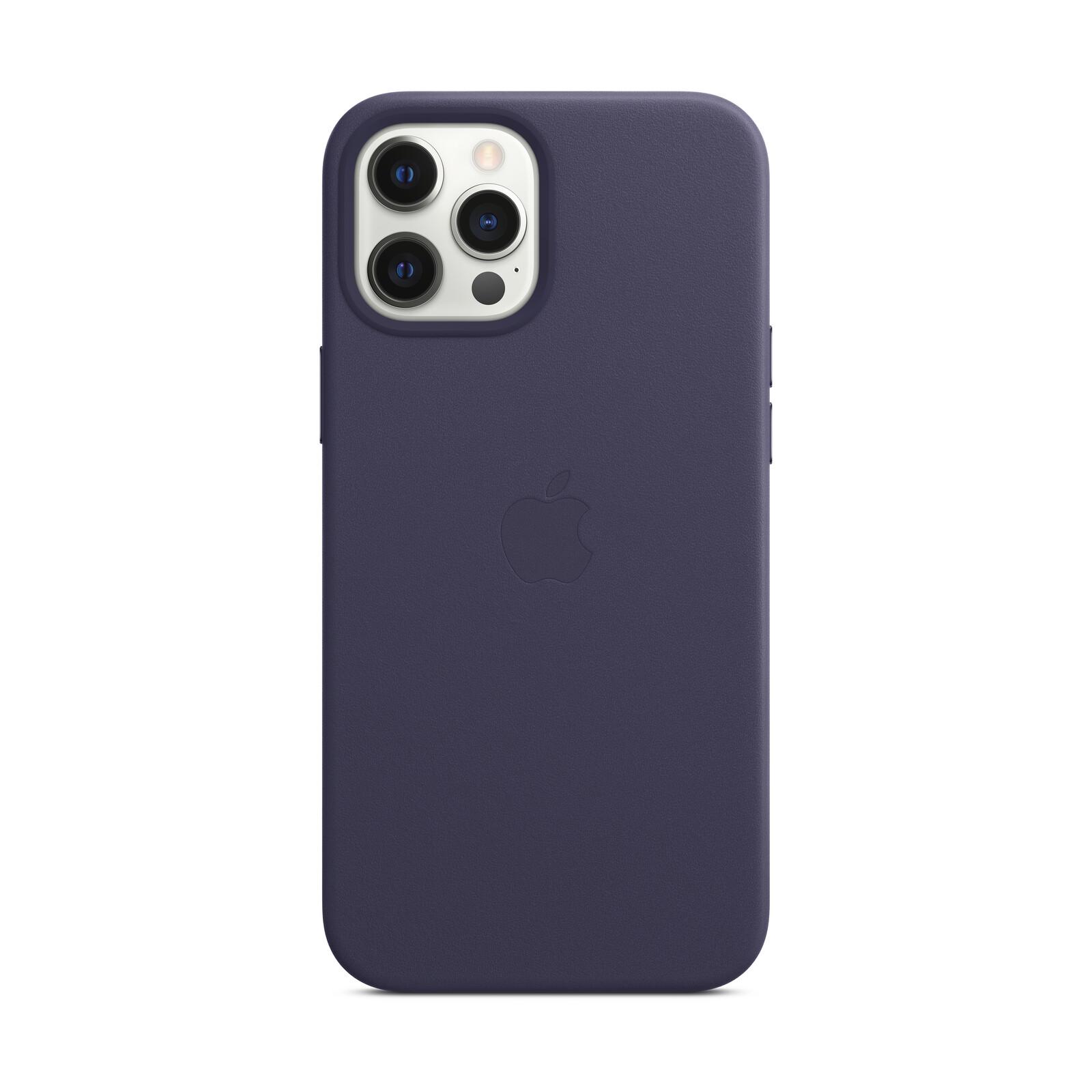 Apple iPhone 12 Pro Max Leder Case mit MagSafe dunkevoilett