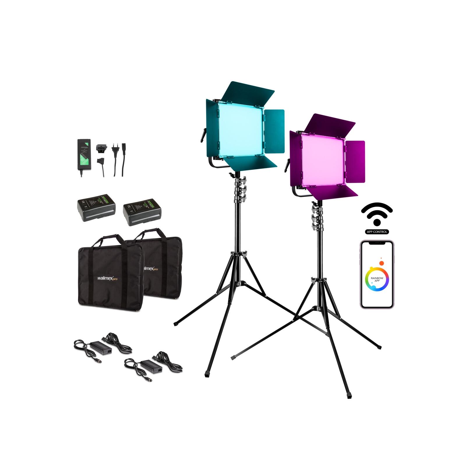 Walimex pro LED Rainbow 50W RGBWW Set 4 (2x Rainbow 50W, 2x