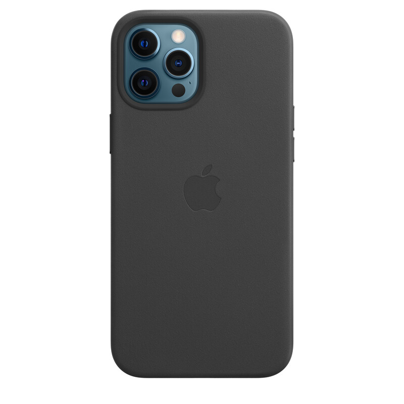 Apple iPhone 12 Pro Max Leder Case mit MagSafe schwarz
