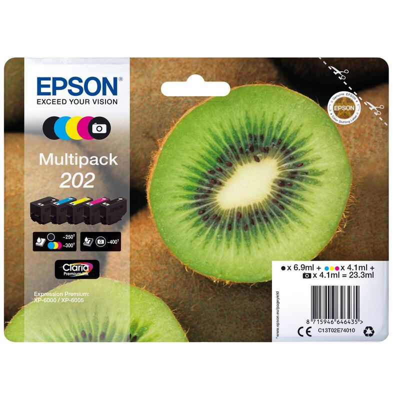 Epson 202 T02E7 Tinte Multipack 4,1ml