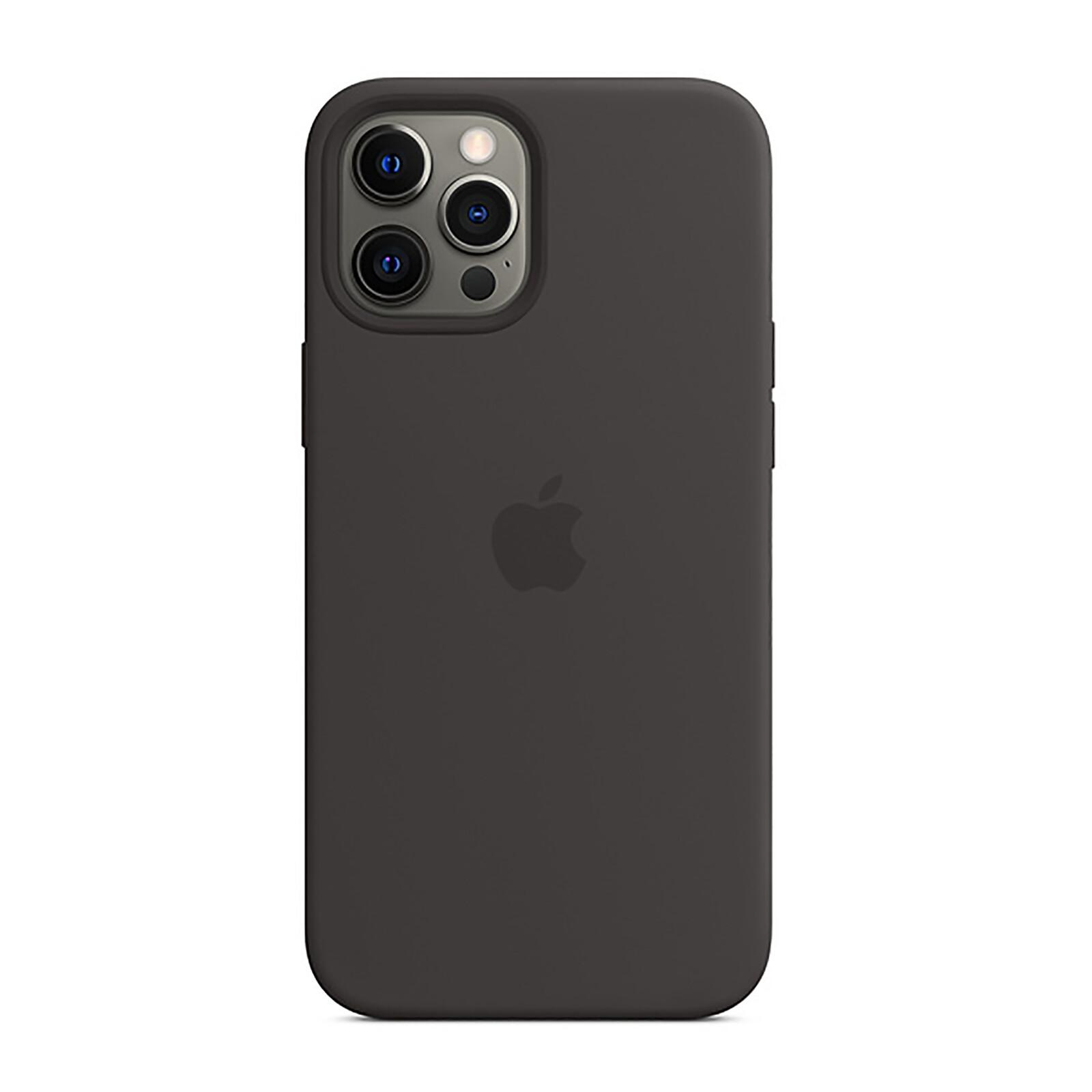 Apple iPhone 12 Pro Max Silikon Case mit MagSafe schwarz