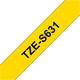 Brother TZE-S631 Band gelb/schwarz 12mm
