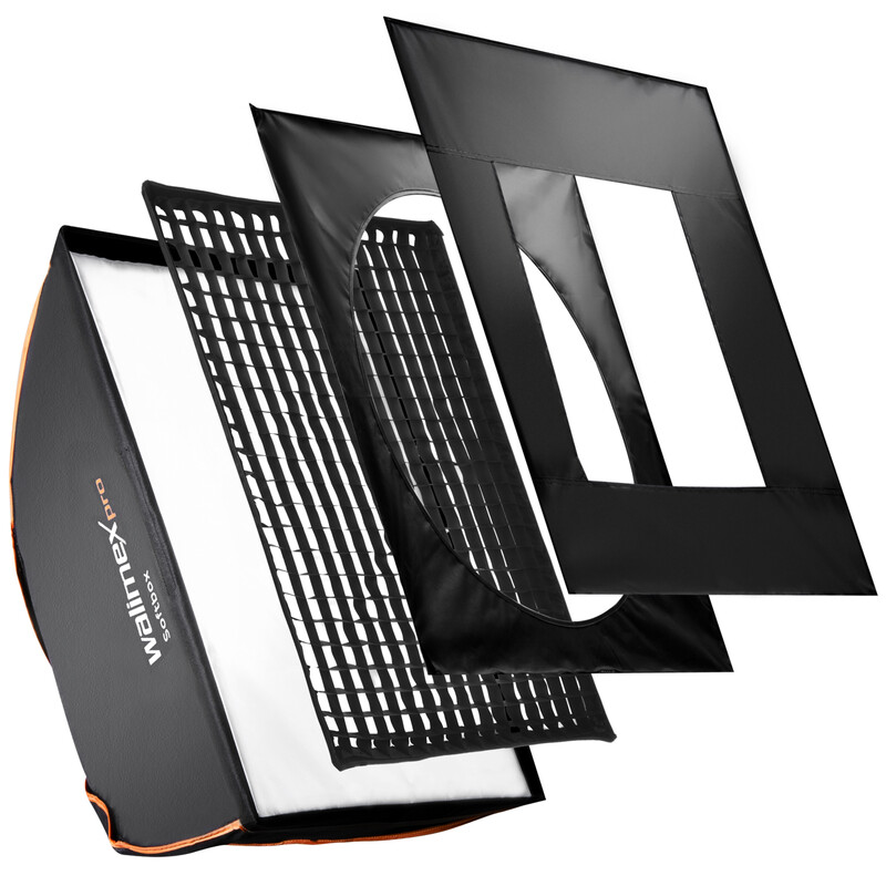 walimex pro Softbox PLUS Orange Line 75x150
