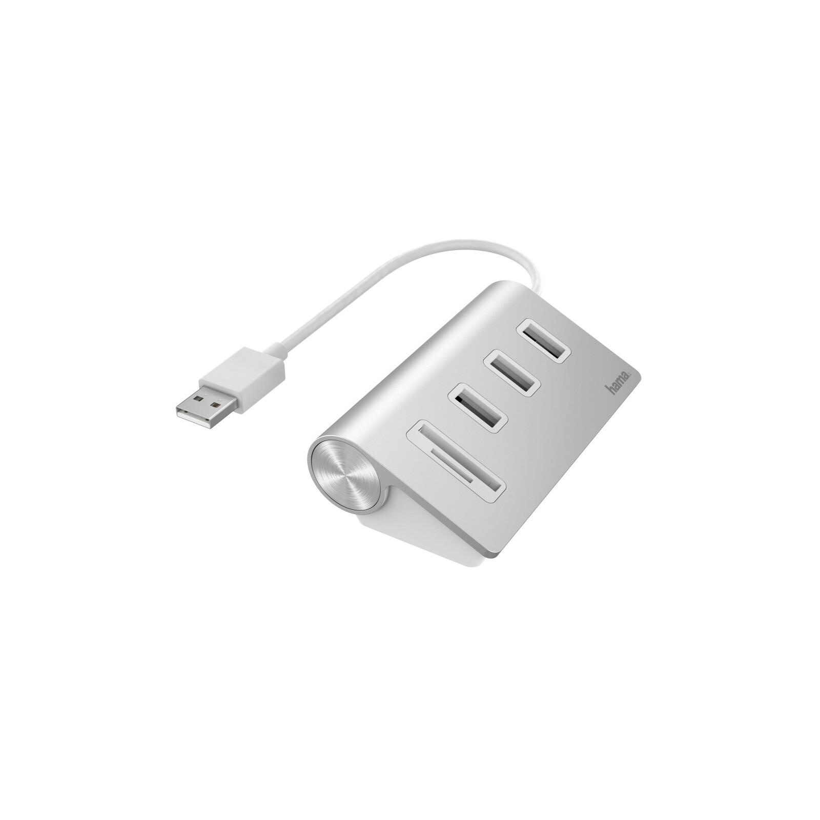 Hama USB-Hub/Kartenleser 5 Ports 3xUSB-A SD microSD