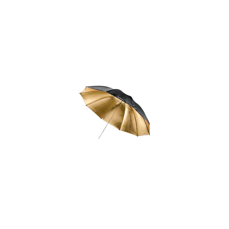 walimex Reflexschirm schwarz/gold 2-lagig, 150cm
