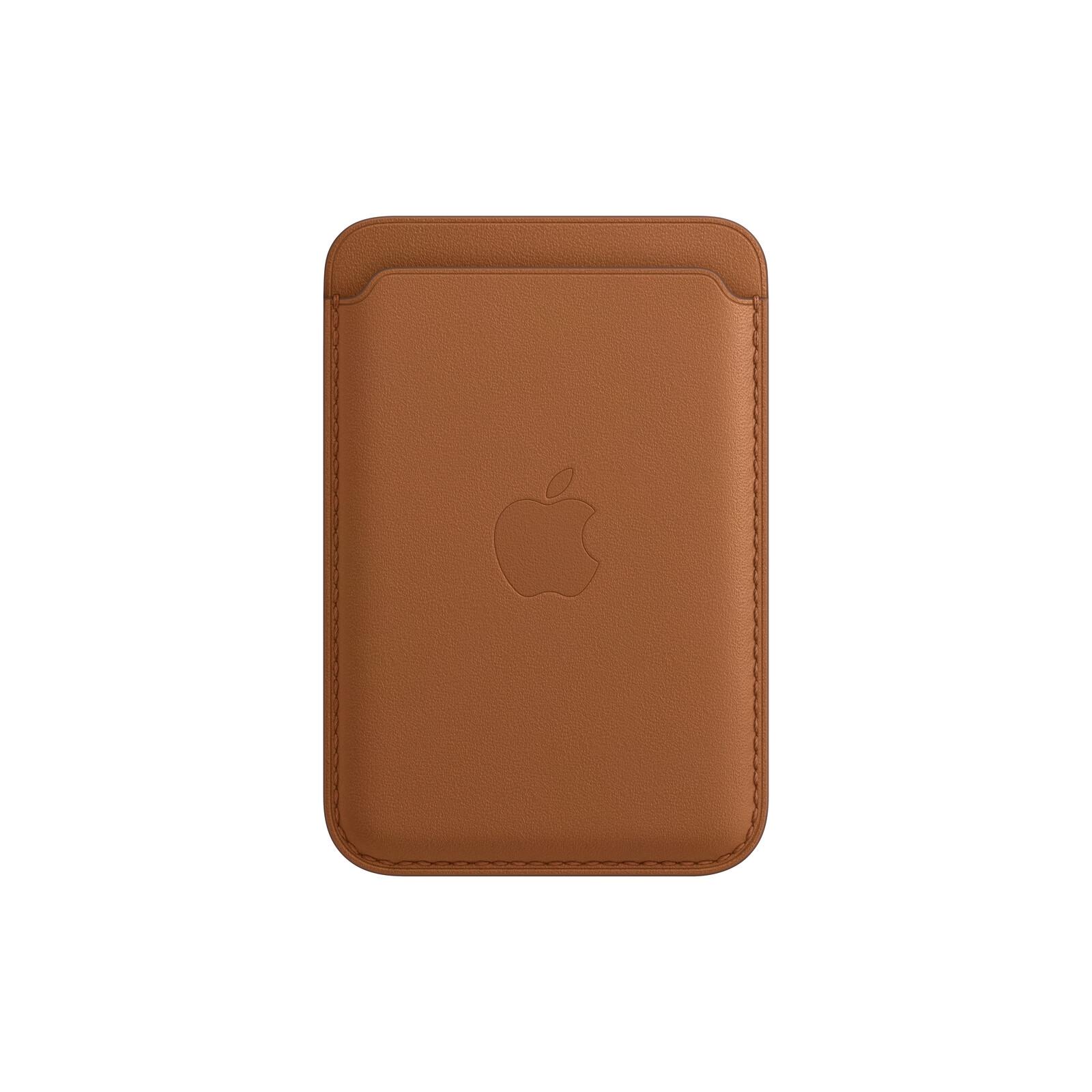 Apple iPhone Leder Wallet mit MagSafe sattelbraun