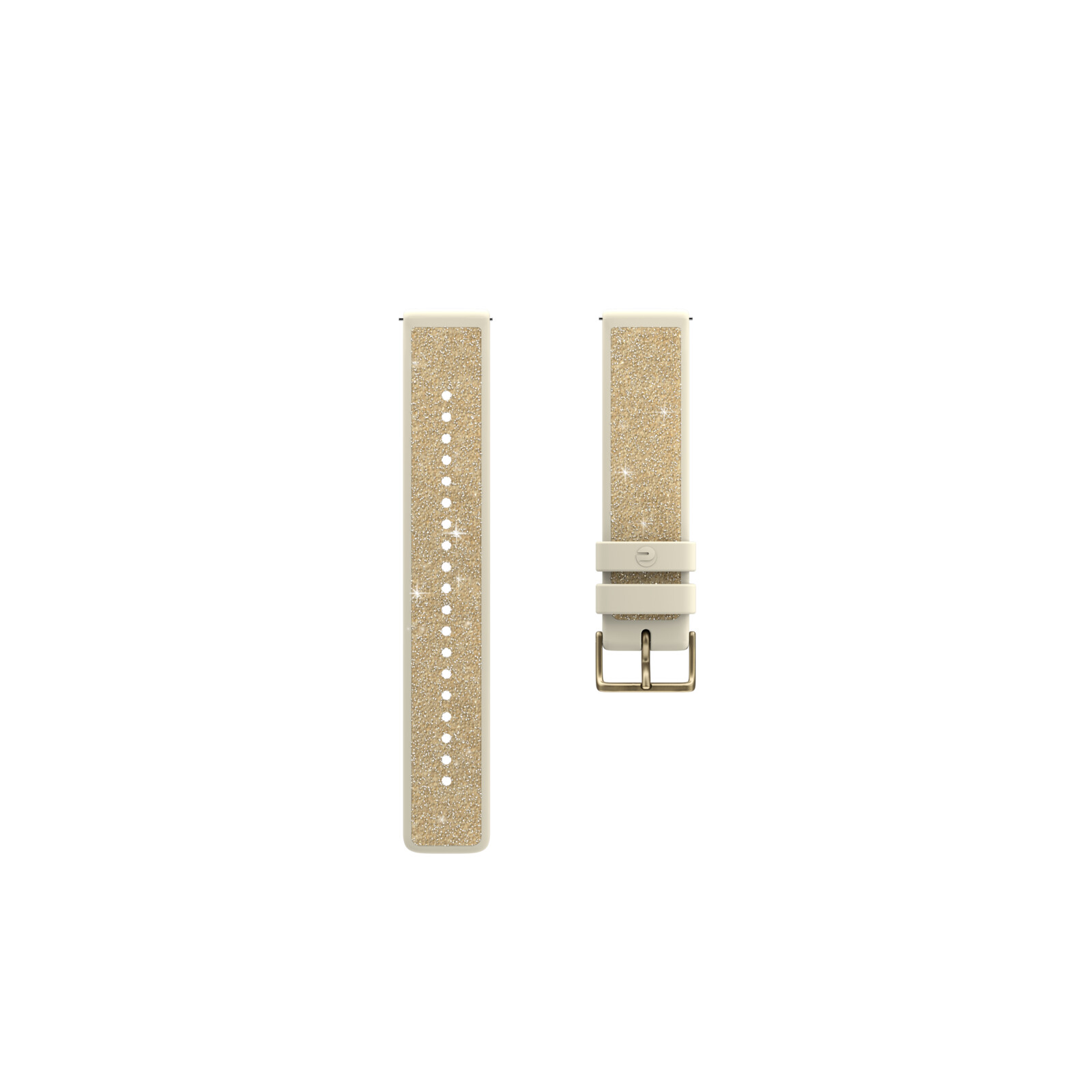 Polar Armband 20mm S FKM/Crystal Gold