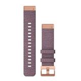 Garmin Quickfit Band Nylon 20mm Lila/Rosegold