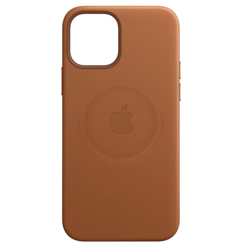 Apple iPhone 12 mini Leder Case mit MagSafe sattelbraun