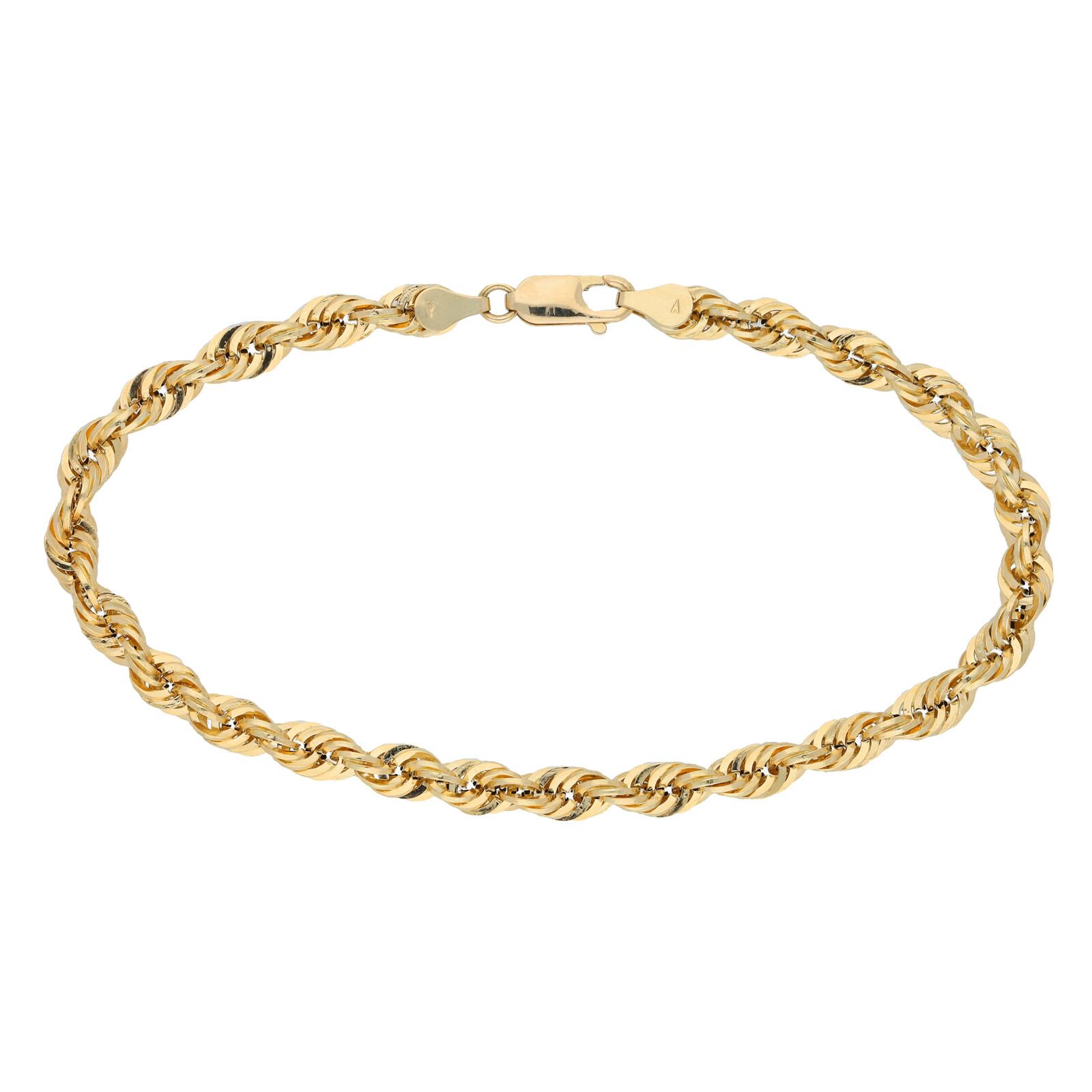 Goldkordelarmband 21cm