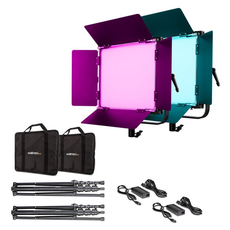 Walimex pro LED Rainbow 50W RGBWW Set 2 (2x Rainbow 50W, 2x