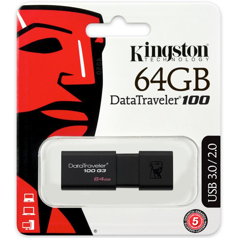 Kingston DT100 64GB USB 3.0 Stick