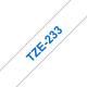 Brother TZE-233 Band weiß/blau 12mm