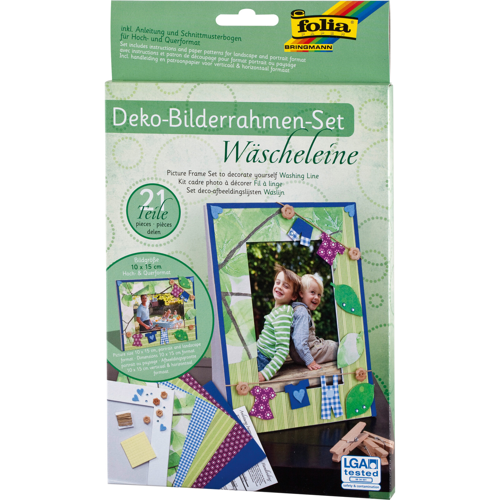 Folia Bilderrahmen-Set Wäscheleine