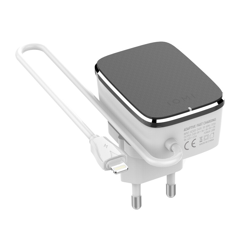 IOMI Reiselader Lightning QC 3.0 schwarz