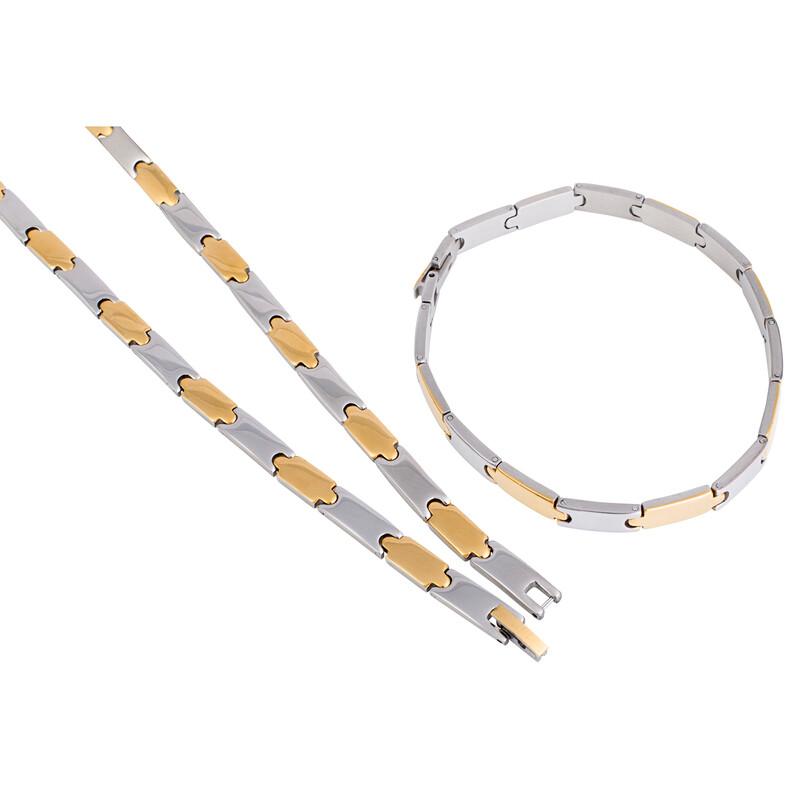 Edelstahlset Kette und Armband