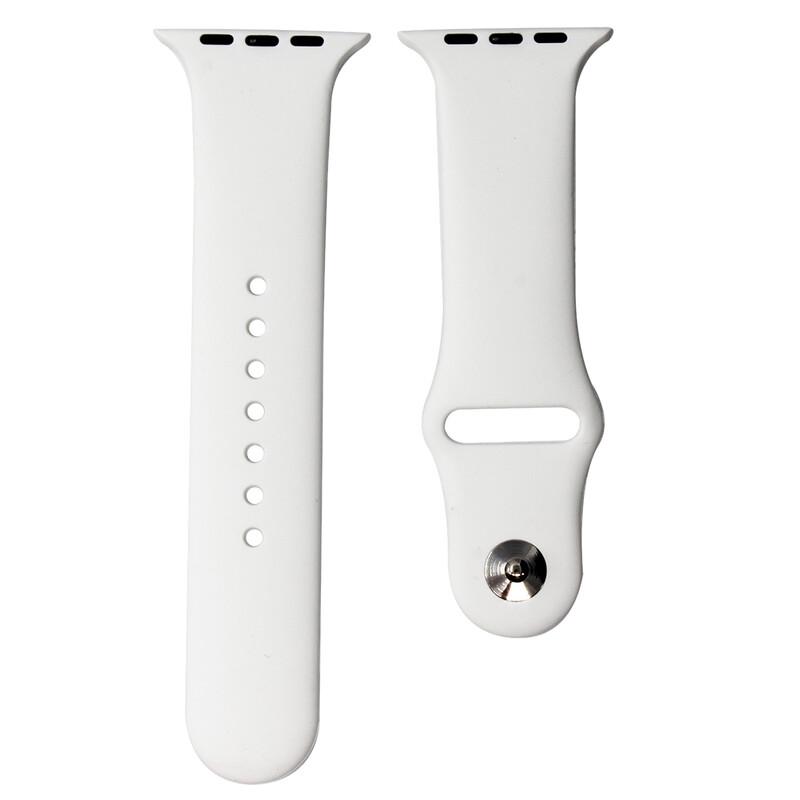 Mika Uhrenarmband Apple 42/44mm Silikon weiß