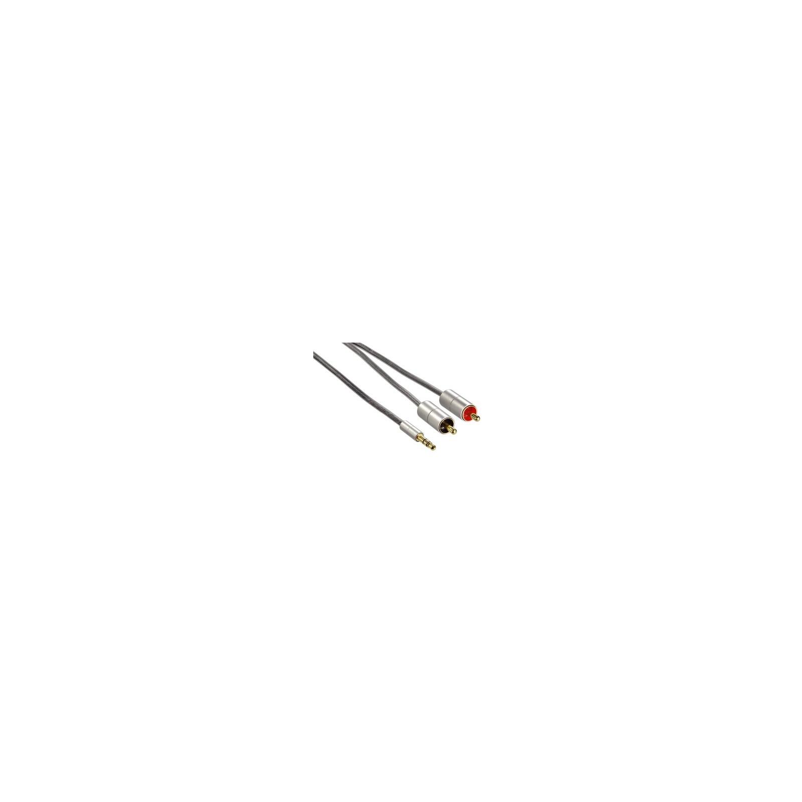 Hama 80864 Verbindungskabel AluLine Klinkenst. 3,5 mm