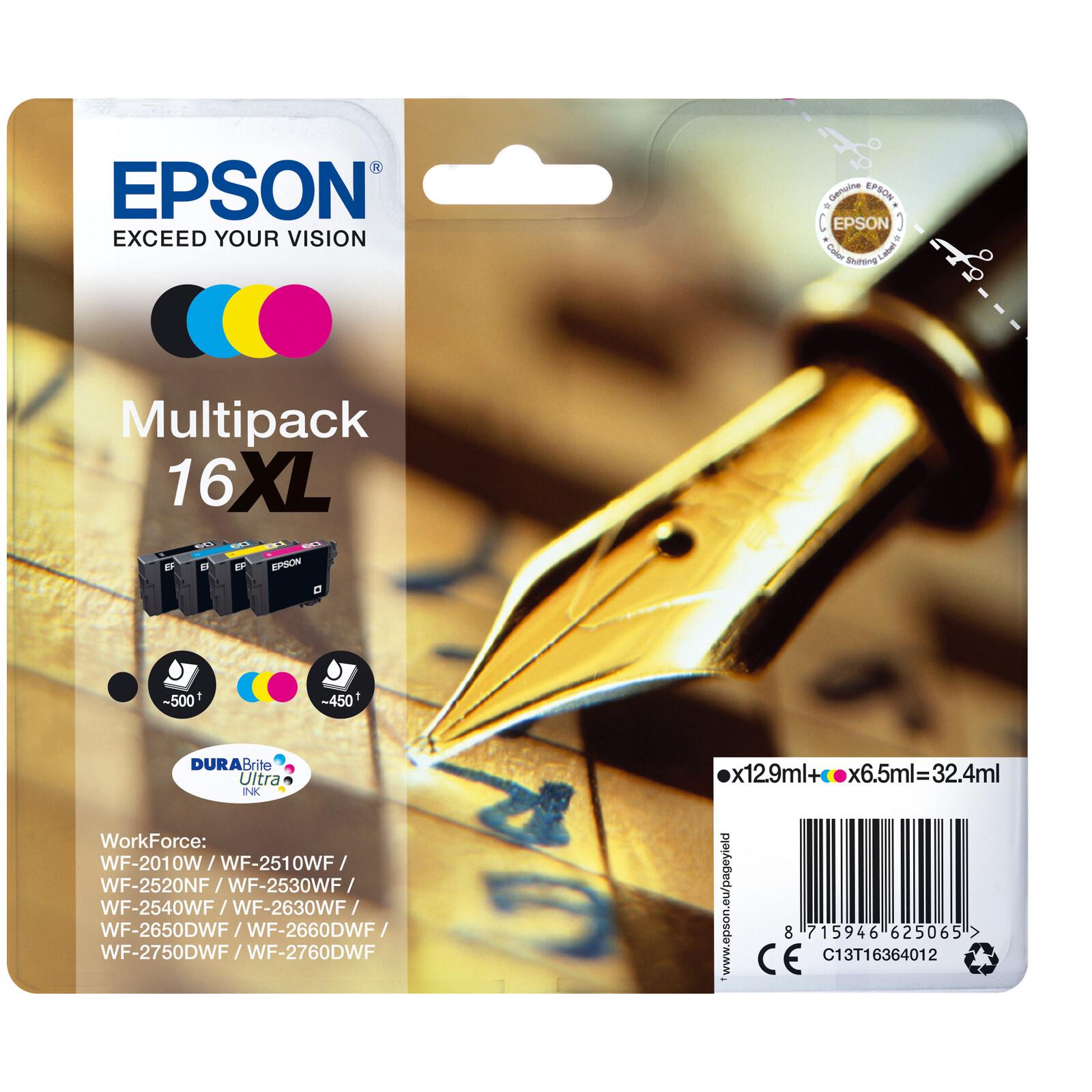 Epson 16XL T1636 Tinte Multipack